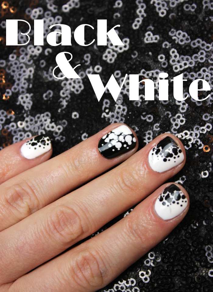Black and White, Nail Art, Ready, Set, Pooooliiish, Blogparade, Naildesign, Dotting Tool