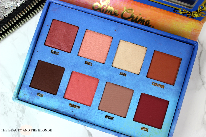 Lime Crime Venus Palette Eyeshadows, Colours,