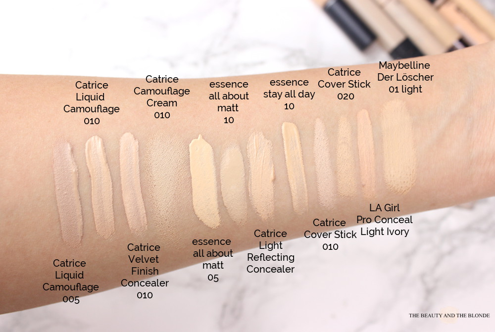 Make Up Collection Drugstore Drogerie Concealer Swatches Vergleich Compared