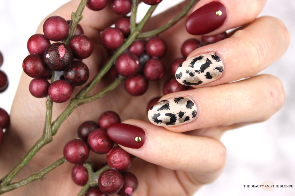 Leopard Nail Art China Glaze City Siren Red Matte Topcoat Nailart Naildesign