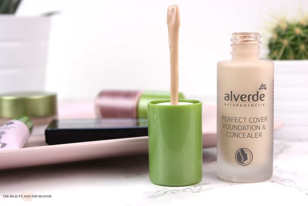 alverde Neuheiten 2017 Perfect Cover Foundation & Concealer 10 vanilla