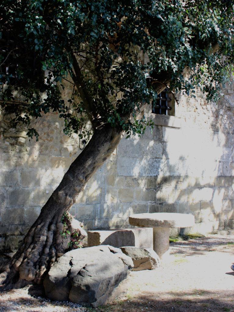 Lissabon Castelo de Sao Jorge Picnic Table castle schloss burg hof