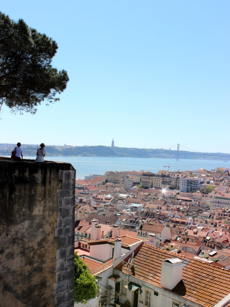 Lissabon Castelo de Sao Jorge View Aussicht Castle Burg Travel guide