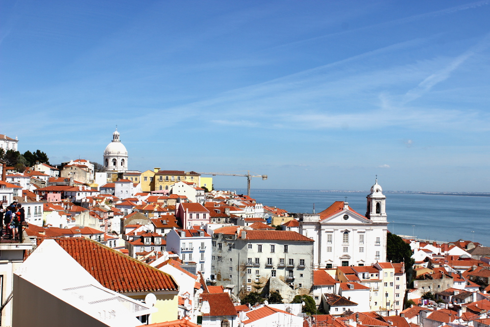 Lissabon Miradouro Santa Luzia Aussicht View Travel Guide Diary