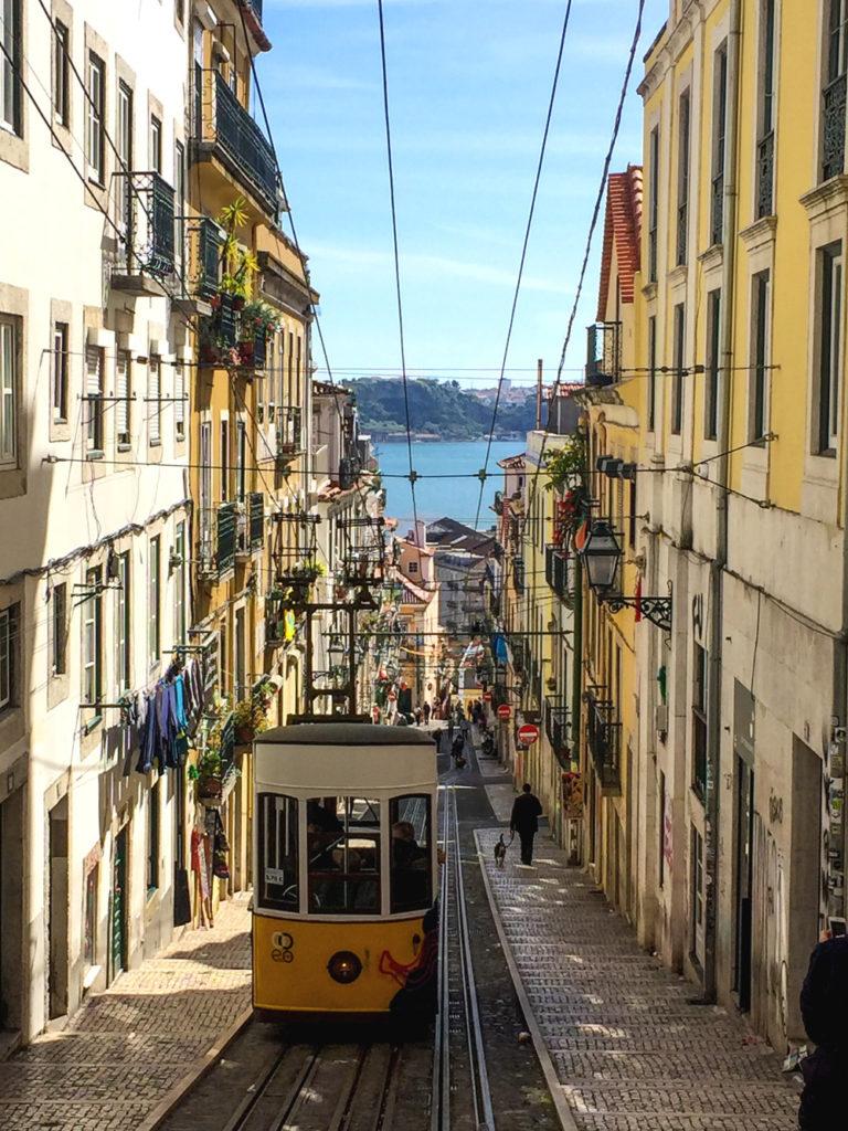 Lissabon Tram 28 Aufzug Carris Ascensores