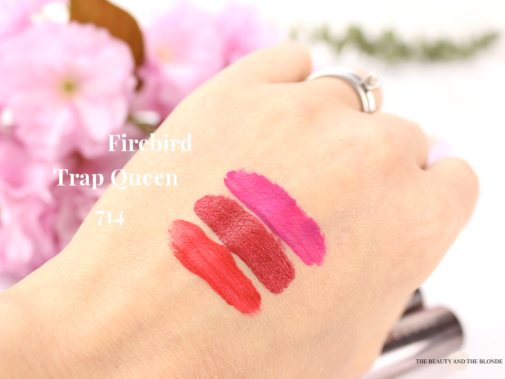 Urban Decay Vice Liquid Lipsticks Swatches 714 Trap Queen Firebird Review