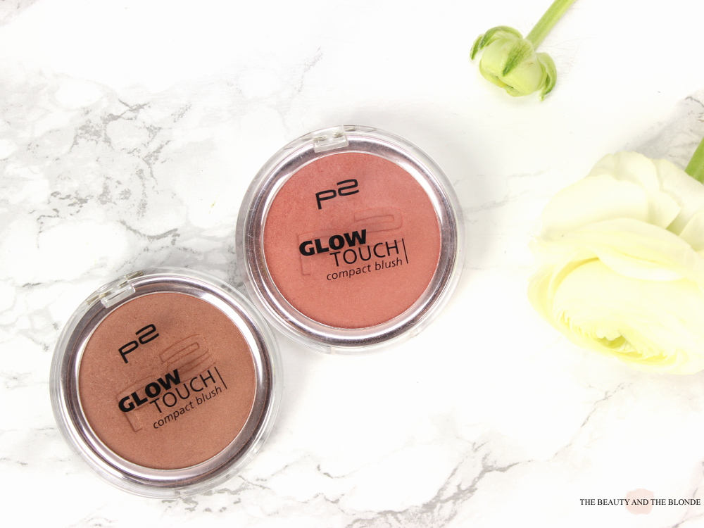 p2 glow touch blushes touch of amber touch of peony drogerie tipp review