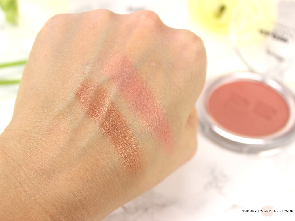 p2 glow touch blush touch of amber touch of peony swatch review drogerie