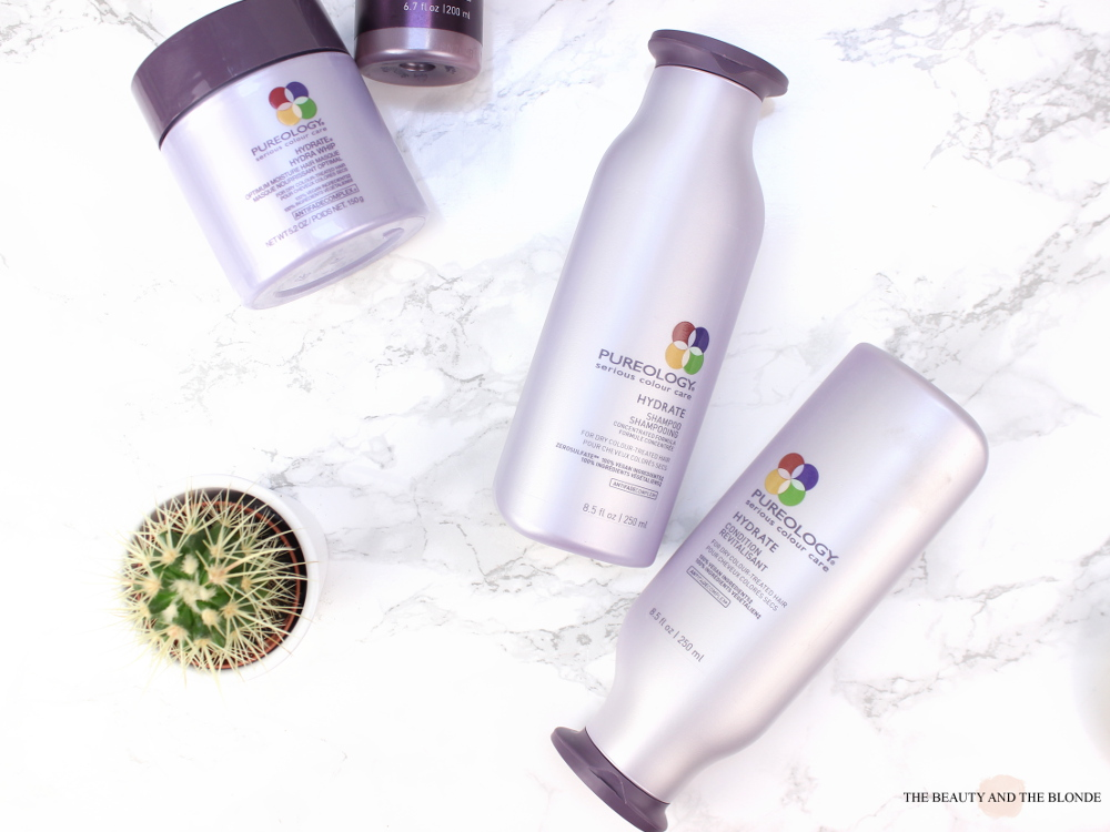 Pureology Hydrate Reihe Review Shampoo Conditioner Kur Haar Maske Spray Sprühkur