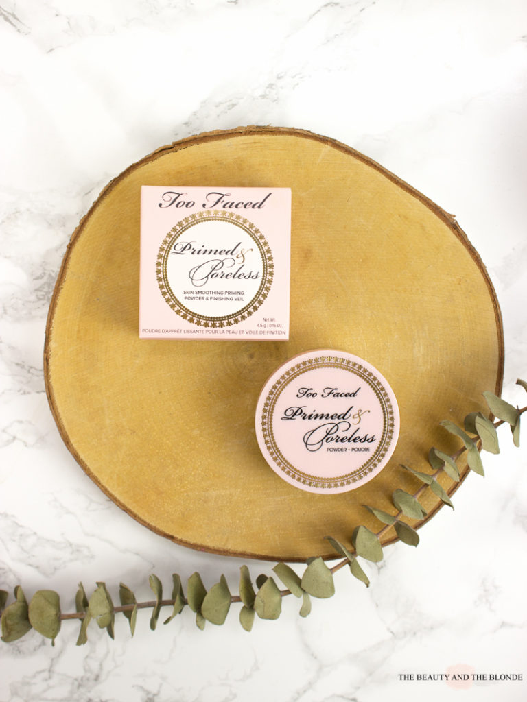 Too Faced Primed And Poreless Loose Powder Packaging Review