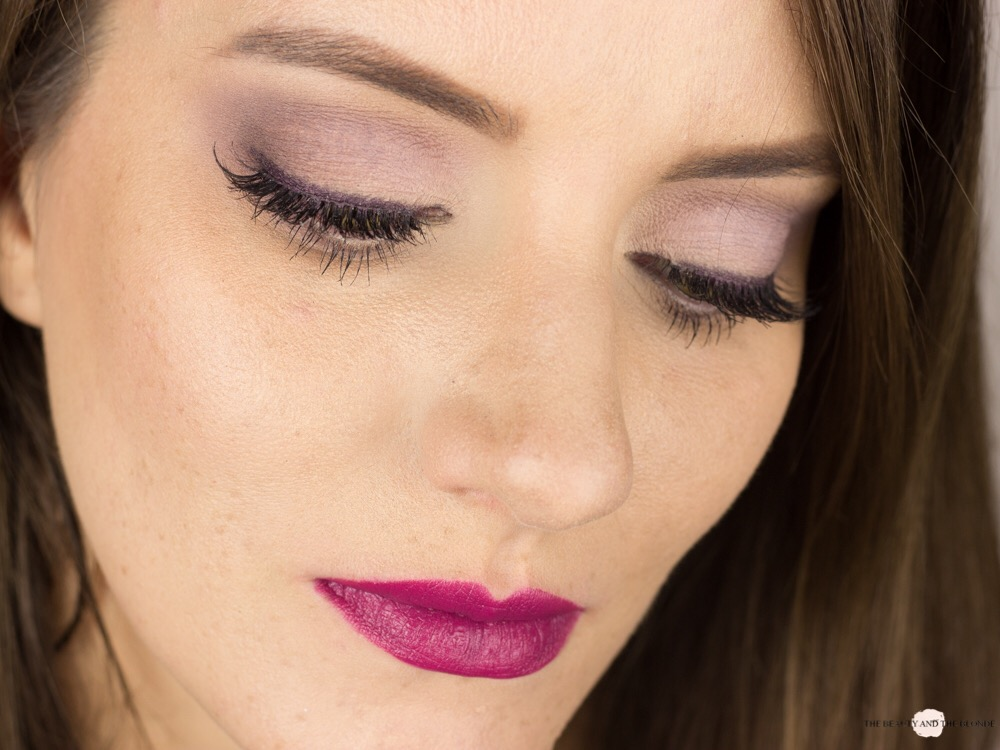 Eine Palette vier Looks Lorac Pro Soft Lilac Look AMU Makeup