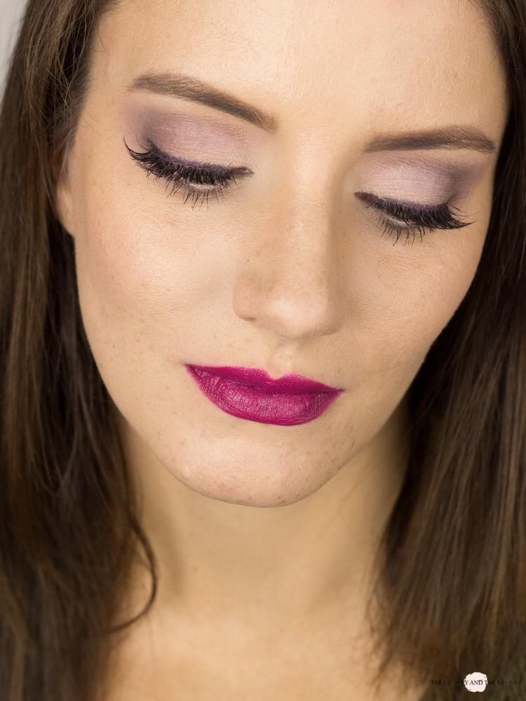 Lorac Pro Eine Palette vier Looks Soft Lilac Look Matte Eyeshadow Makeup AMU