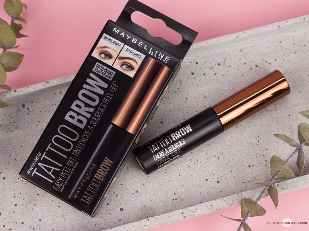 Review Maybelline Tattoo Brow Drugstore Drogerie Browtint