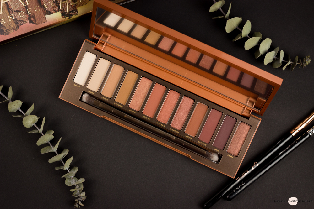 Review Urban Decay Naked Heat Palette Swatches Red Eyeshadow