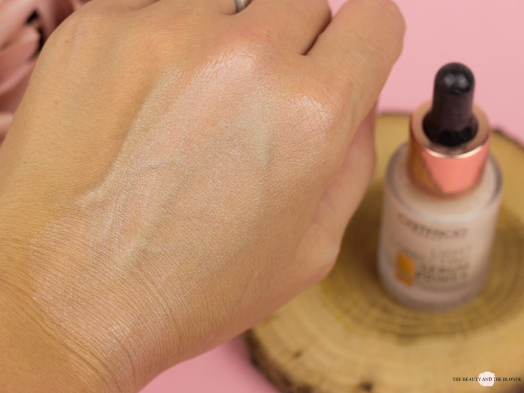 Swatch Catrice Light Correcting Serum Primer Drogerie Drugstore Highlighter Review
