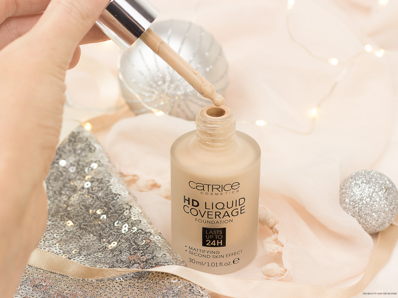 Catrice HD Liquid Coverage Foundation Drogerie Review Swatches Pipette