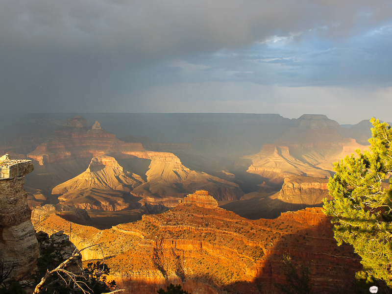Grand Canyon Sunset Sonnenuntergang Westcoast Roadtrip South Rim Wandern