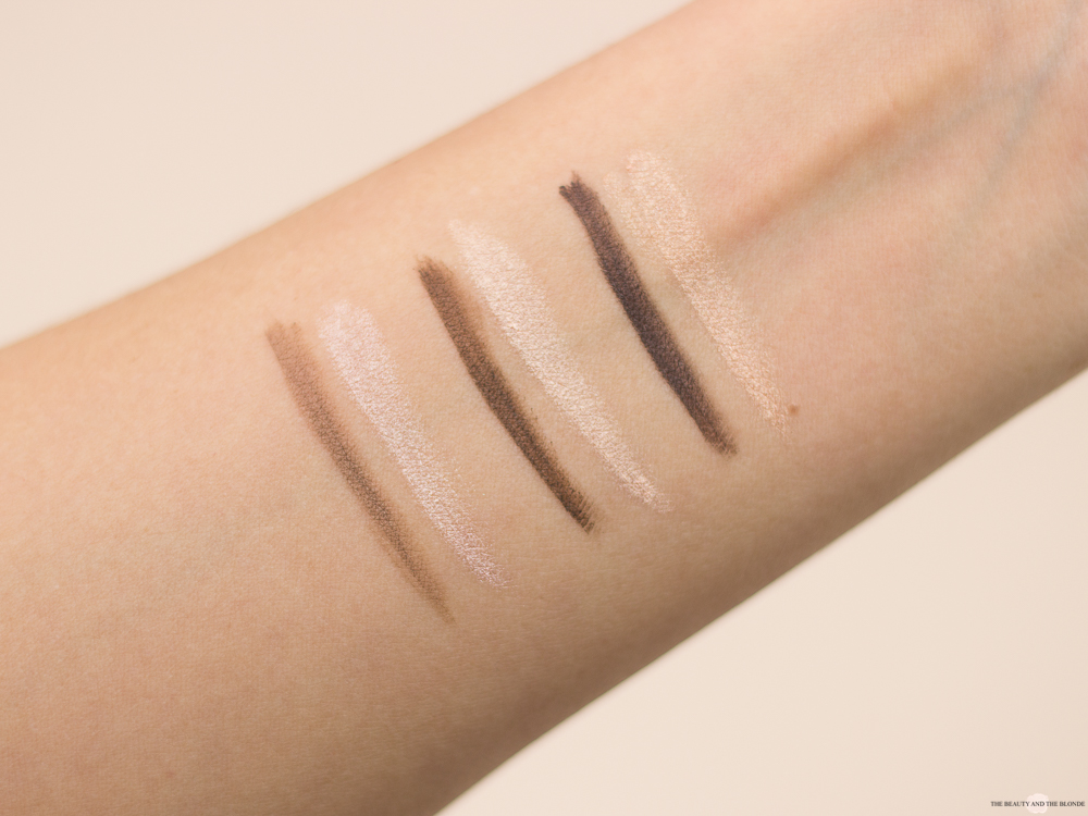 L.O.V Code: Nude Collection Eyebrow Pomade & Highlighter Swatches Review