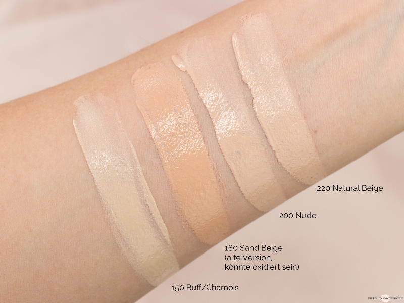 Revlon Colorstay Foundation Swatches