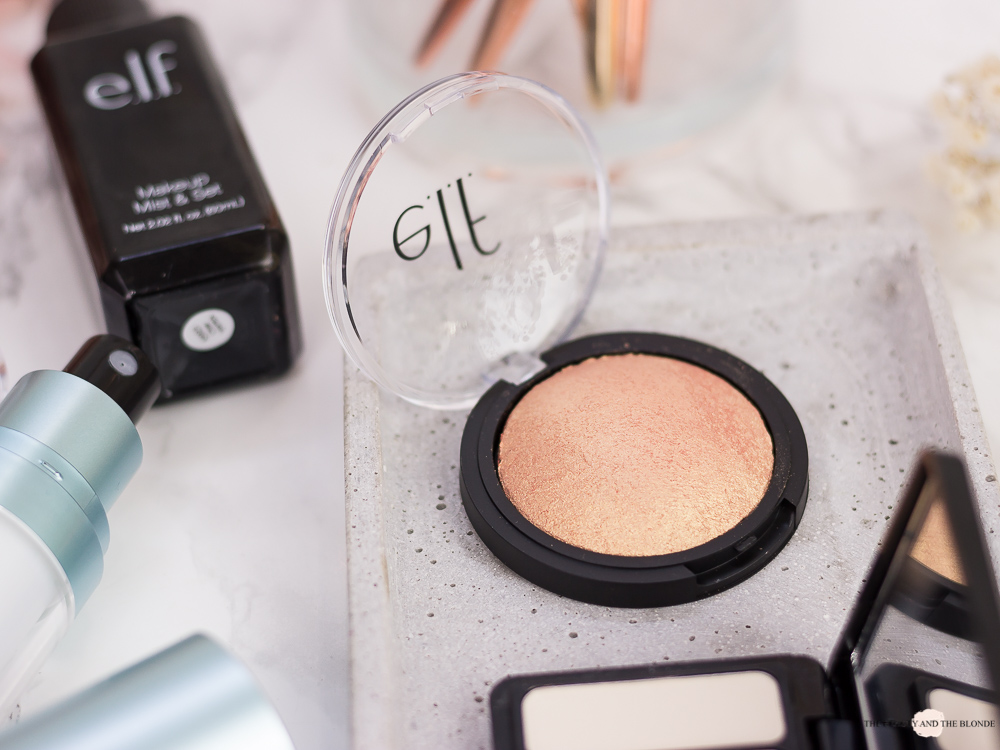e.l.f. Cosmetics Baked Highlighter Apricot Glow Review elf