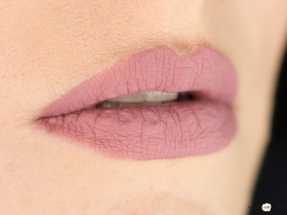 e.l.f. Cosmetics Matte Lipstick Tea Rose Swatch Lipswatch Review elf